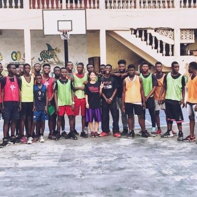 ガーナでバスケットボール 染谷美結